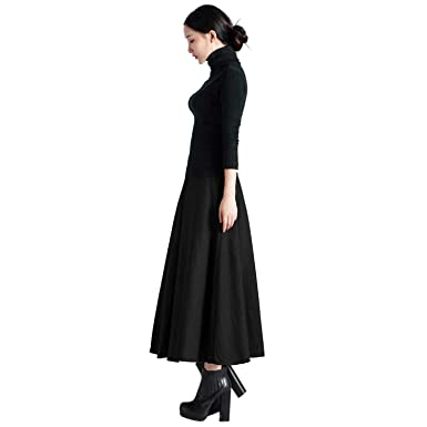04d2013ed95e Dreamworldeu Röcke Damen Wollrock Elastisch Bund Tanz-Kleid Party Frauen  Abendkleider Faltenröcke