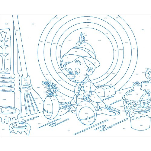 INGRAM PUBLISHING Disney Classic Arylic Paint by Number Set w/ Canvases Display Stands & Brush by INGRAM PUBLISHING (Image #4)