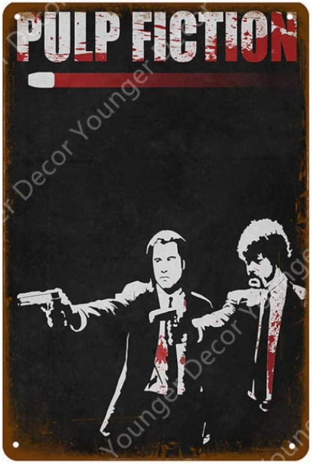 LHCY Carteles De Metal Vintage Carteles Clásicos De Pulp Fiction Carteles De Pared Retro Kraft Bar Pub Cafe Decoración para El Hogar Pintura Placa De Pared: Amazon.es: Hogar