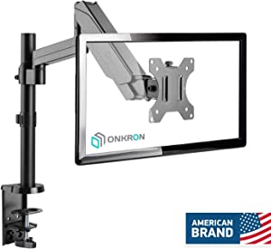 """ONKRON Monitor Desk Mount Stand for 13"""" to 32-Inch LCD LED Screens up to 17.6 lbs G70 Black"""