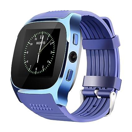 Neuf T8 Bluetooth Smart montres support SIM et carte TF avec caméra Sync appel Message Homme Femme montre Smartwatch pour Android: Amazon.fr: High-tech