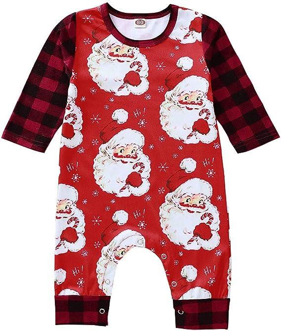 Costume Bambino Pigiama Body Pagliaccetti Tute Costumi Divertente Natalizi Vestiti Neonata Neonato Abiti Invernale Abbigliamento Christmas SUDADY Tuta Natale Vestiti Bambini Bambina