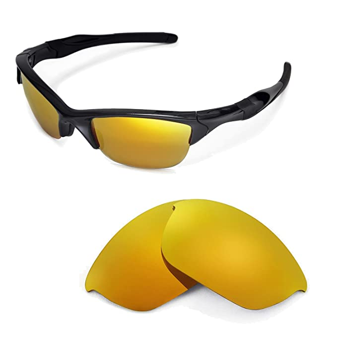 8ca83c38bc Walleva Replacement Lenses for Oakley Half Jacket 2.0 Sunglasses -Multiple  Options Available (24K Gold