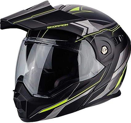 Amazon.es: Scorpion Casco Moto adx-1 Núcleo, Matt black/neon yellow, m