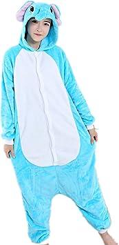 Kenmont Unicornio Juguetes y Juegos Traje Disfraz Animal Ropa de Dormir Cosplay Disfraces Pijamas para Adulto Niños (M: 158-168CM, Elefante)