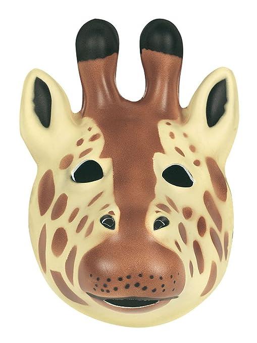 Careta de jirafa para niños o adultos, 21 x 19 cm (Wild Republic 63128
