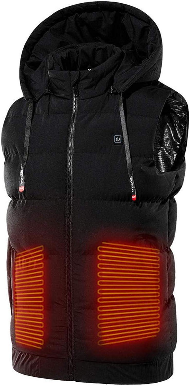 Chaleco calefactor eléctrico con carga USB, ropa de calefacción para hombres y mujeres, chaleco caliente eléctrico para caza de pared, sin banco de energía