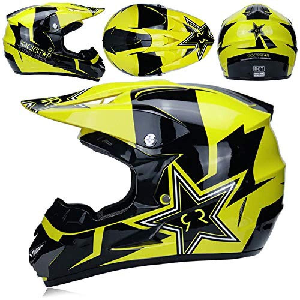 Gloves Goggles Mask for Free DIMPLEYA Motocross Helmet Matte Black Scooter And Car Helmet Prevent Collision Full Face Adult Men Women