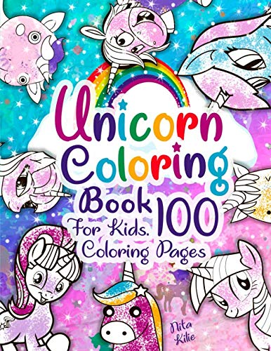 Unicorn coloring book for kids. 100 coloring pages: 😍 2019 High-quality coloring book. Unicorn coloring book for kids ages 4-8, 2-4, 8-12. Unicorn coloring book for girls 2