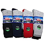 Falari 12 Pairs Thermal Socks Winter Warm Boot Socks Fits Size 10-15 Assorted