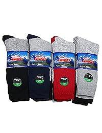 Falari 12 Pairs Thermal Socks Winter Warm Boot Socks Fits Size 10-15 Assorted Colors