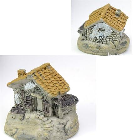 KinTTnyfgi Suministros de Acuario Mini Ornamento de la casa del Acuario para la decoración del Paisaje