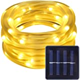 LE Solar Power 16.5ft 50 LED Rope String Lights, Warm White, Waterproof, Portable, Christmas Tree, Thanksgiving, Wedding, Party, Garden, Lawn, Patio, Outdoor Decoration