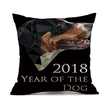 Funda de almohada para cama de perro, de la suerte, para mascota, gato