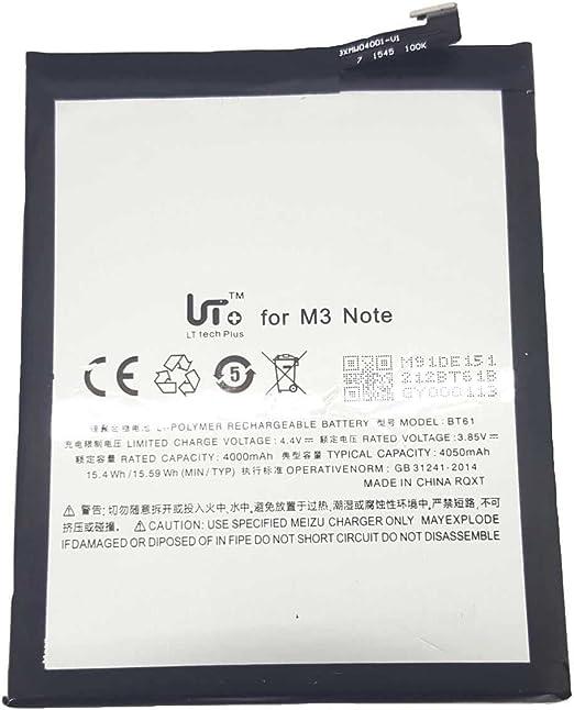 Todobarato24h Bateria Meizu M3 Note BT61 BT 61 4000 mAh Conector de la bateria Hembra (No Vale el Conector Macho): Amazon.es: Electrónica