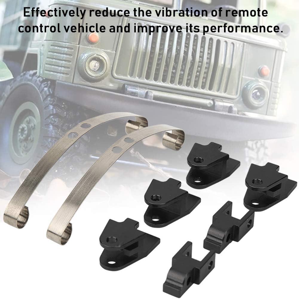 Plata WPL1684S Drfeify Aleaci/ón de Aluminio Amortiguador Accesorio Compatible para WPL B4 24 1//16 RC Car