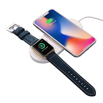 Moon mood® Cargador Inalámbrico iPhone X, 2 en 1 Qi carga ...