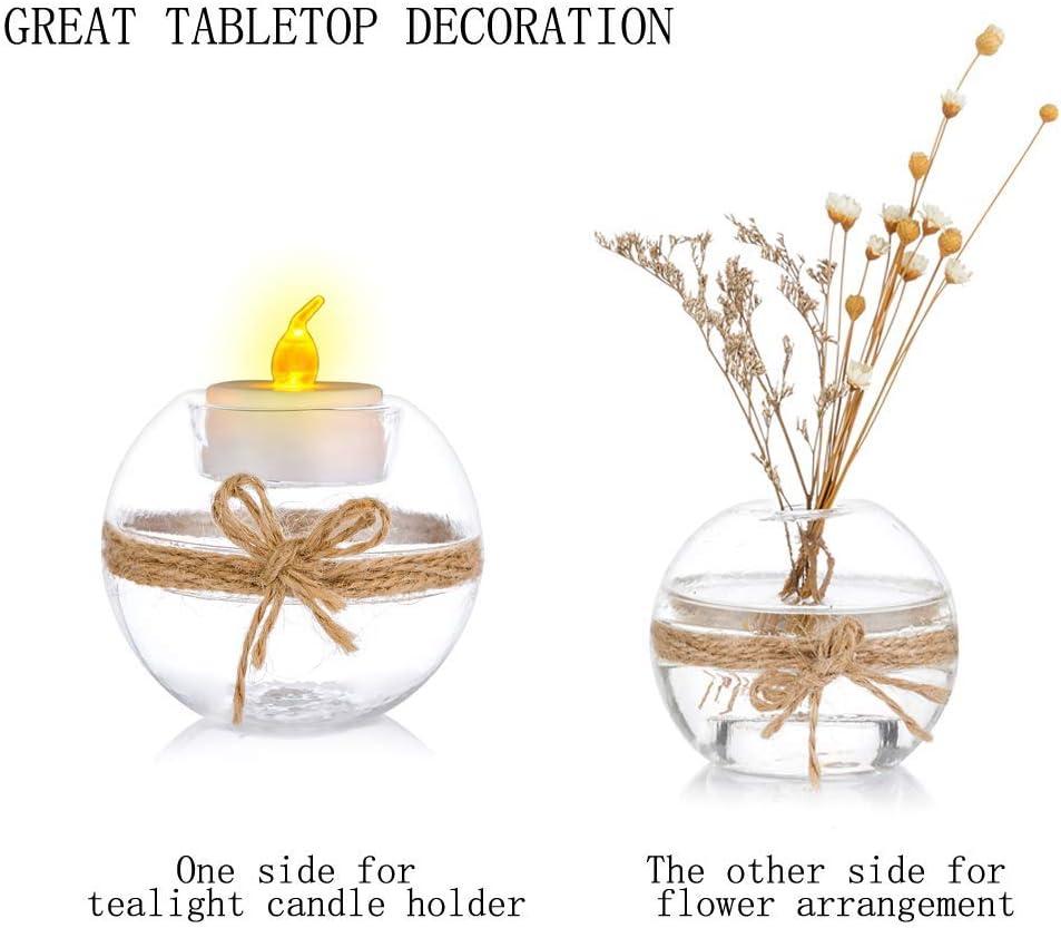 D/écoration de Table pour Mariage Aromath/érapie Spa 2 Genres Dutilisation Porte-Bougie Votive Nuptio 12 Pi/èces Bougeoirs en Verre Clair de Bougie Chauffe-Plat F/ête