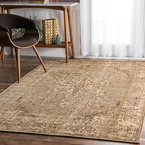 Machine Traditional Made Rug (Traditional Vintage Inspired Overdyed Fancy Rug)