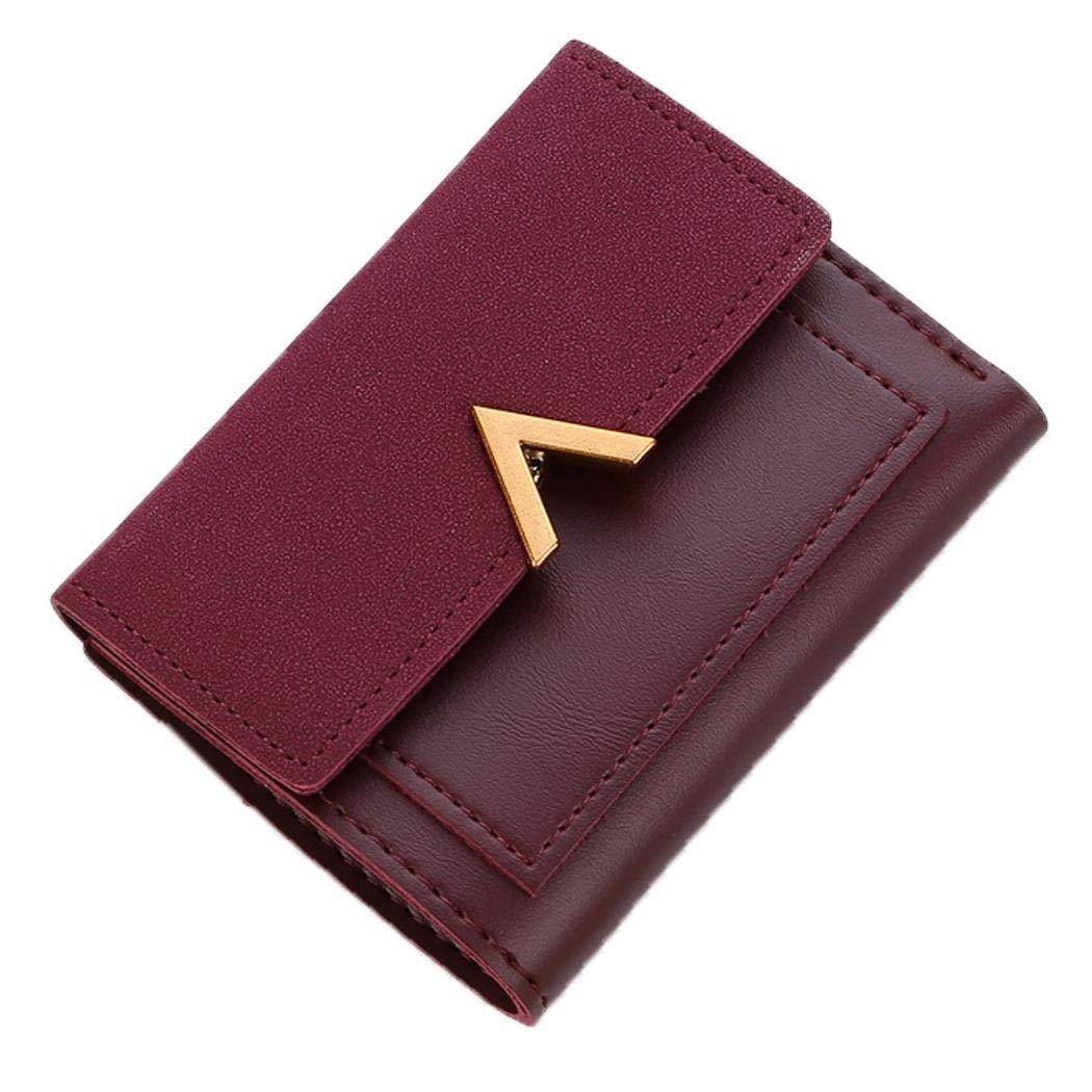 Gfone Mode Femmes Forme V Lettre Porte-Cartes Wallet Purse Clutch Bag Porte-monnaie