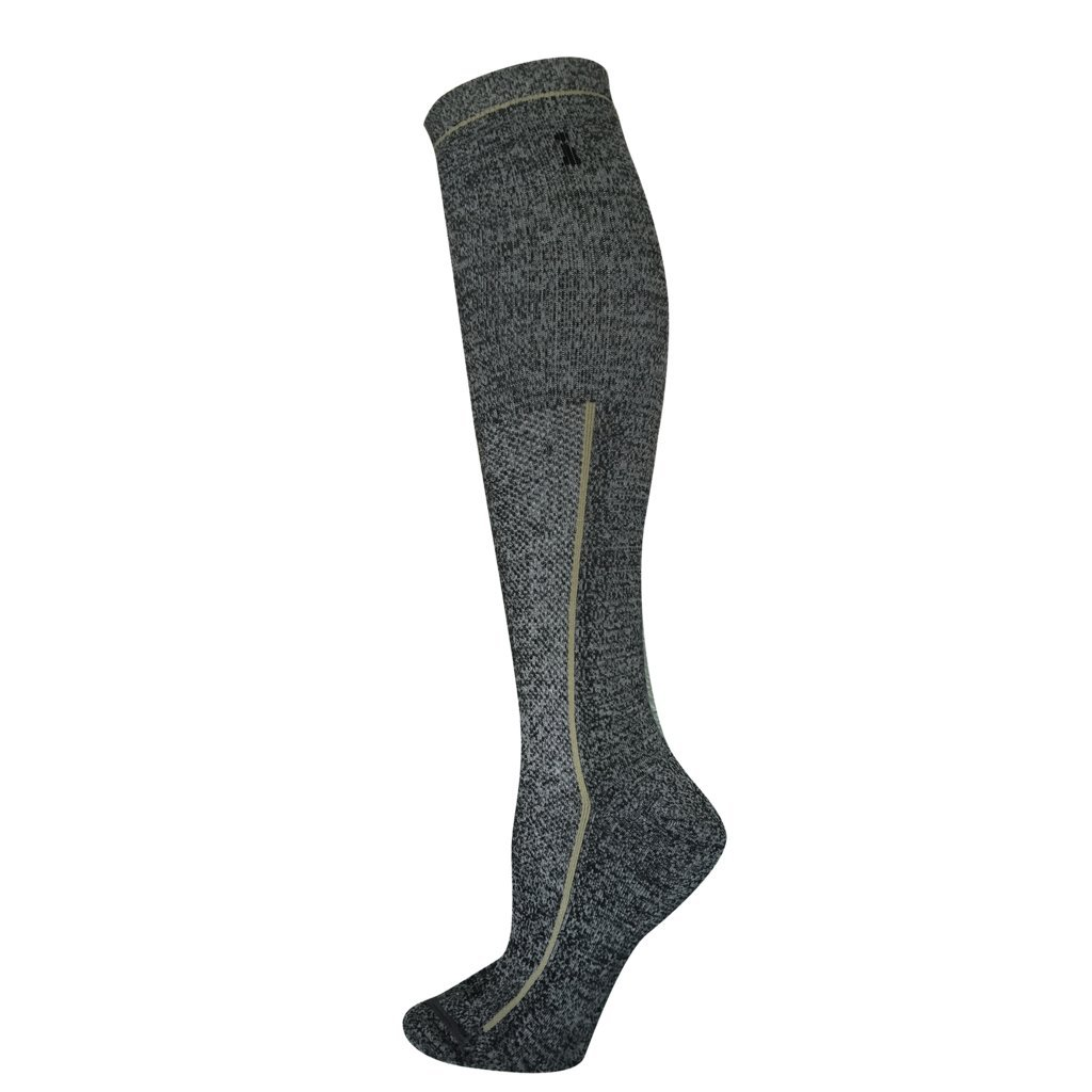 INCREDIWEAR Merino Wool High Thin Socks Knee, Grey, Small, 0.03 Pound