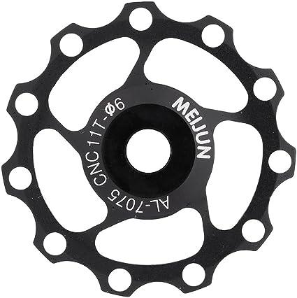 2pcs 11T Bike Aluminum MTB Alloy Bearing Jockey Wheel Rear Derailleur Pulleys
