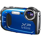 Fujifilm FinePix XP65 Waterproof 16.4MP Digital Camera Full HD Video Movies 3D Panorama Shockproof Freezeproof Dust/Sandproof (Blue)