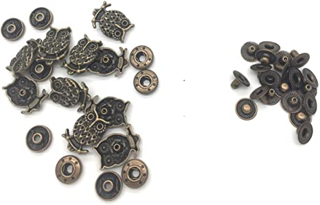 10 Sets Popper Snap Fastener Press Stud Sewing Leather Craft Jeans Bronze