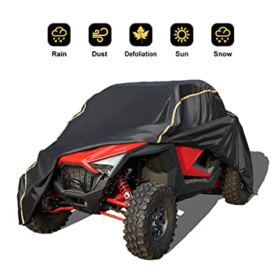 Cover for RZR, KEMIMOTO 2020 UTV Waterproof All Weather Oxford Storage Covers with Rlective Strip for RZR PRO XP Protects Side by Side Razor Wind-Proof from Sun Snow Rain and UV Rays: Automotive