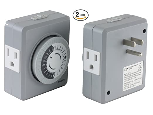 Instapark tu19 24 hour 15 amp heavy duty plug in mechanical timer instapark tu19 24 hour 15 amp heavy duty plug in mechanical timer with dual 3 pin grounded polarized outlets 2 pack amazon publicscrutiny Image collections