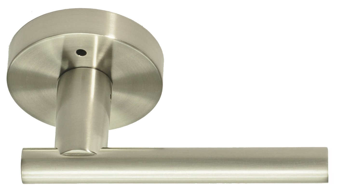 Better Home Products Skyline Boulevard Reversible Privacy Lever, Satin Nickel