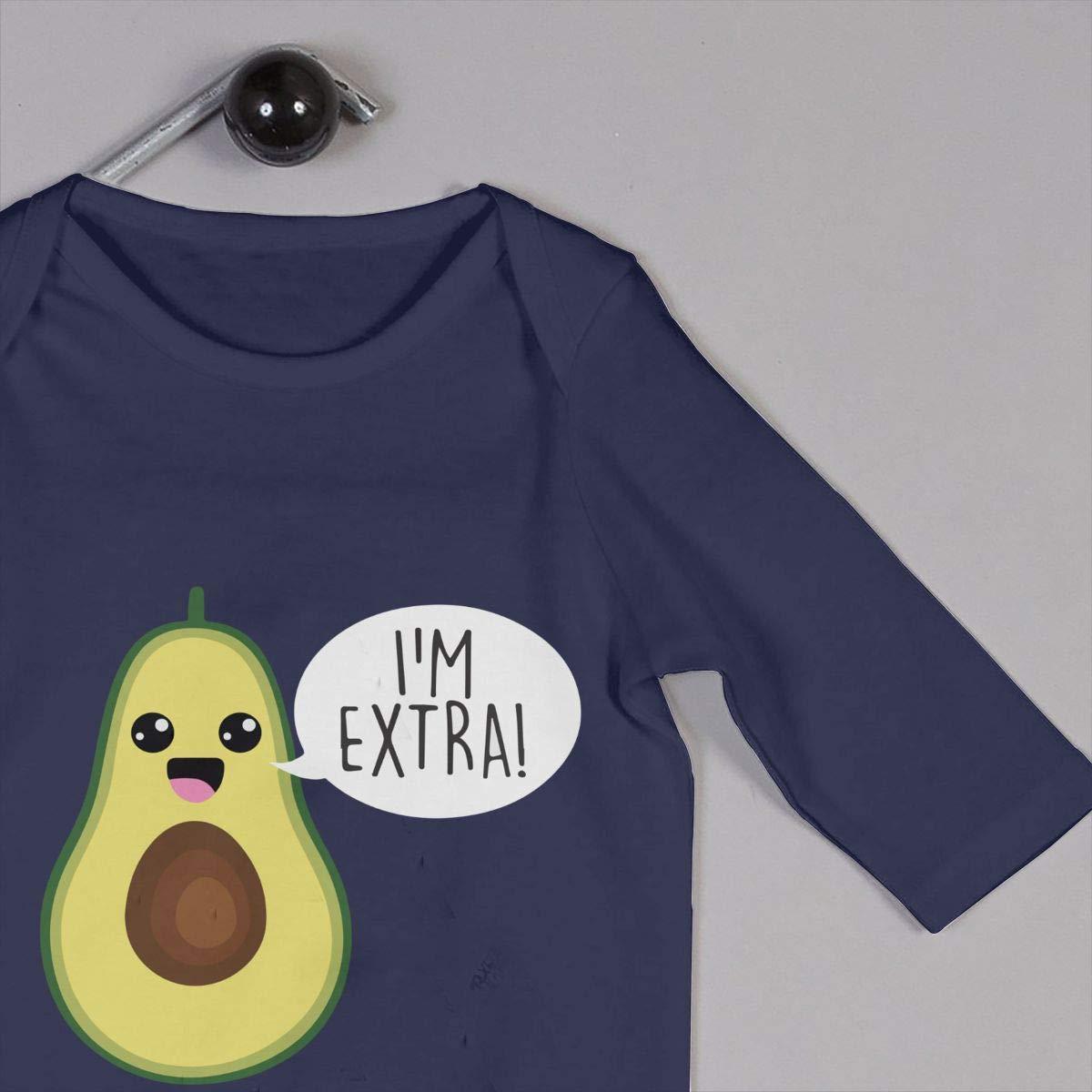 Mri-le1 Baby Girls Organic Coverall Avocado Im Extra Guacamole Baby Clothes