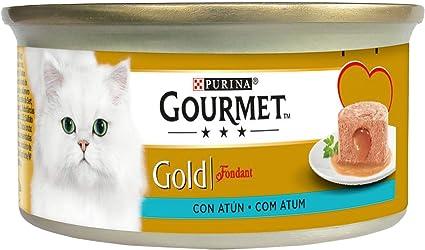 Purina Gourmet Gold Fondant comida para gatos con Atun 24 x 85 g ...