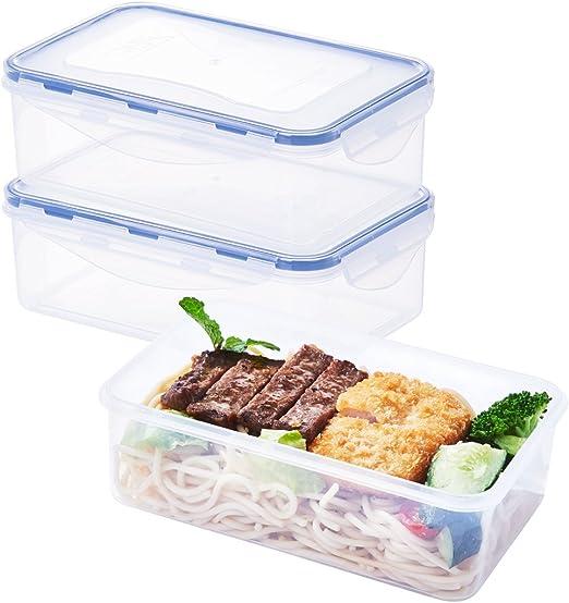 EASYLOCK - Juego de recipientes de plástico para comida para ...
