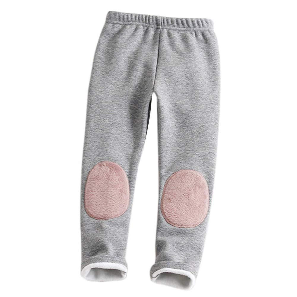 ggudd Ni/ña Beb/é C/álido Grueso Doble Parches//Almohadillas Legging Pantalones Colores del Caramelo