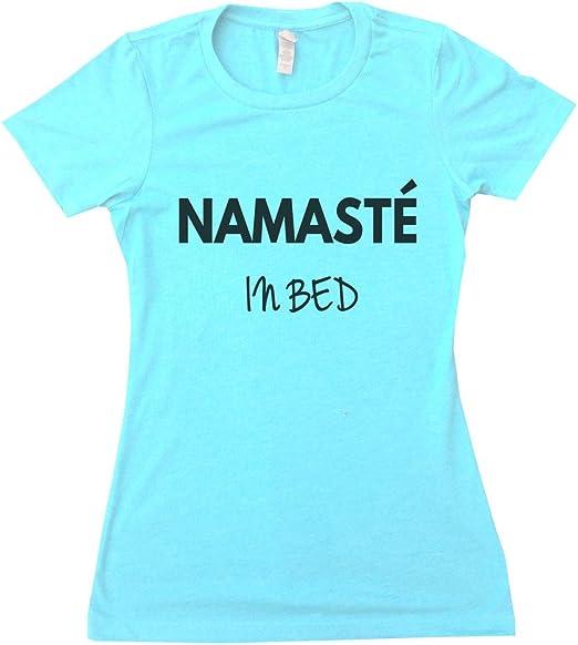 Amazon.com: Womens TSHIRT Namaste en la cama Yoga Tank ...
