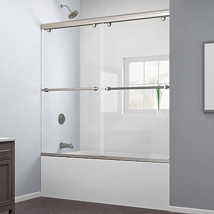 Exceptionnel Width, Frameless Bypass Sliding Tub Door, 5