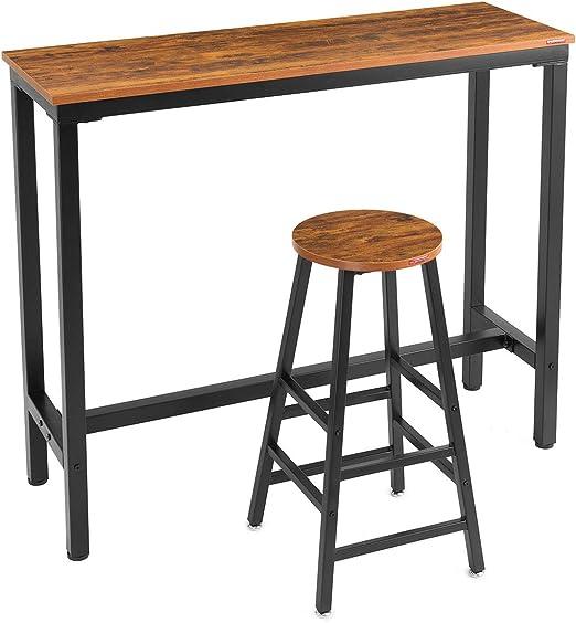"Amazon.com: Mr IRONSTONE 2-Piece Bar Table Set, 47 ""Pub ..."