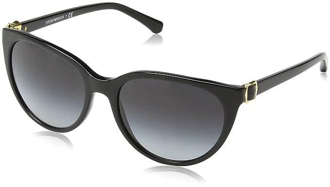 ad39eab44a4 Emporio Armani EA4057 - 50178G Black Wayfarer Sunglasses at Amazon ...