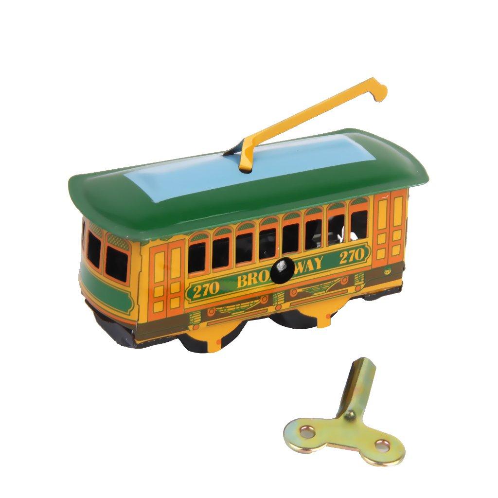 Annata Tram Tram Tram Di Latta Giocattolo Regalo Da Collezione Con Il Tasto Vento Up Generic