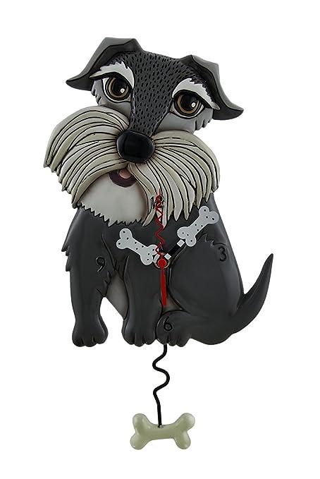 Relojes de pared de resina Lucy perro Allen Designs Whimsical reloj de pared con péndulo en
