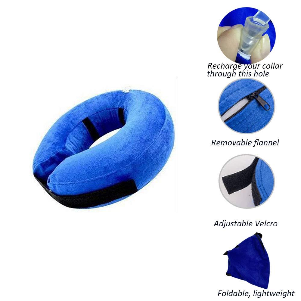 Amazon.com: Neppt protectora collar inflable recuperación E ...