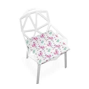 Amazon.com: Almohadillas de silla PLAO color rosa flamenco ...