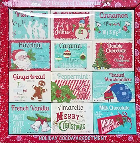 The 12 Cocoas of Christmas - Holiday Hot Cocoa Mix Assortment Gift Set