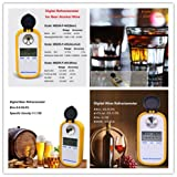 Digital Alcohol Meter Wine Refractometer Beer Refractometer Digital Refractometer Brix Refractometer Digital Alcohol Refractometer Alcohol Brix 0-50.0% Accuracy 0.2% Automatic Temperature Compensation