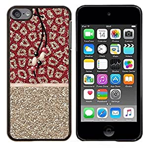 """S-type Gold Glitter Piel Patrón india"""" - Arte & diseño plástico duro Fundas Cover Cubre Hard Case Cover For Apple iPod Touch 6 6th Touch6"""