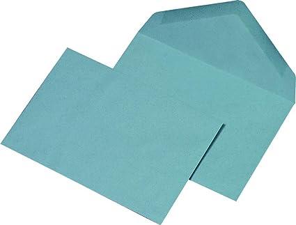 Mailmedia - Sobre para carta DIN C6, color azul (100 ...