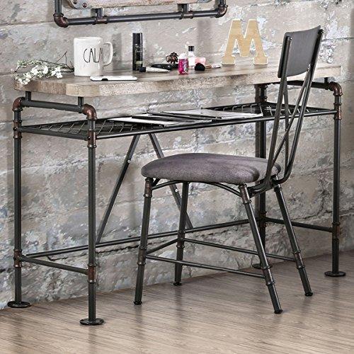 Furniture Of America Revo Industrial Antique Black Desk Console Table