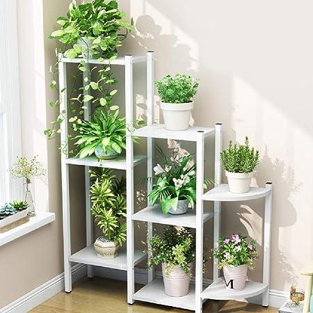 Escalera De La Planta YXX Soporte de Plantas de 3 Niveles - Soporte for macetas de Interior - Bandeja de exhibición de macetas de Plantas for hogar, Patio Trasero, Patio, jardín, Exterior: