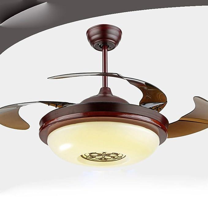 SAEJJ-LED luces de ventilador de techo silencioso, moderno ...